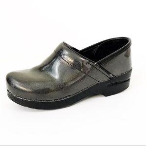 DANSKO Black Glitter Nursing Clogs Size 38
